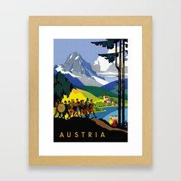 Austria - Vintage Travel Ad Framed Art Print