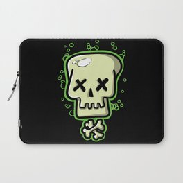 Toxic skull and crossbones green Laptop Sleeve