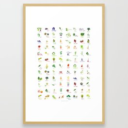 Produce Palette Framed Art Print