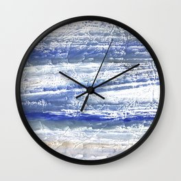 Gray Blue Marble blurred watercolor texture Wall Clock