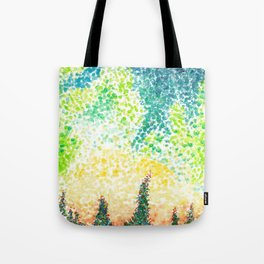 Abstract Forest Watercolor Tote Bag