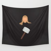 thor Wall Tapestries featuring thor by Live It Up