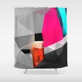 Peaceful eyes drawn away from me 01. Shower Curtain