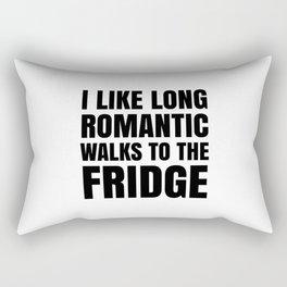 I LIKE LONG ROMANTIC WALKS TO THE FRIDGE Rectangular Pillow