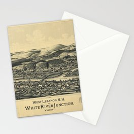 West Lebanon, New Hampshire and White River Junction, Vermont (1889) Stationery Cards