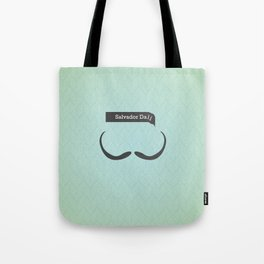 Salvador Dali (Famous mustaches and beards) Tote Bag