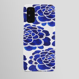 blue floral Android Case