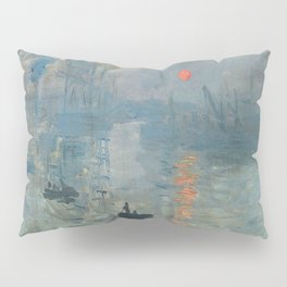 Claude Monet – Impression soleil levant – impression sunrise Pillow Sham