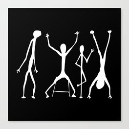 Abstract People Black + White Canvas Print