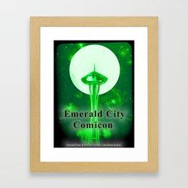 EMERALD CITY COMICON Framed Art Print