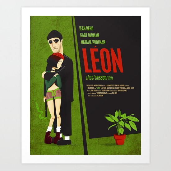 Leon and Mathilda Art Print