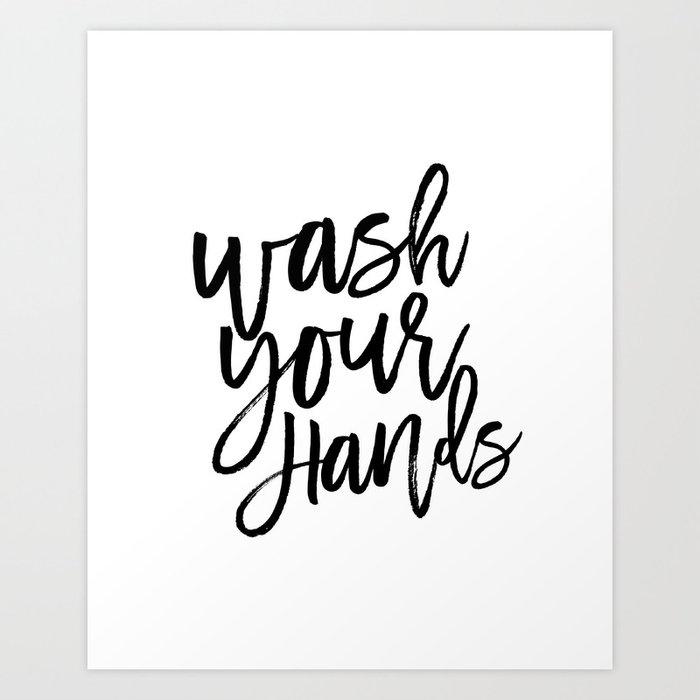 Wash Your Hands,Kids Room Art,Nursery Decor,Bathroom Decor ...