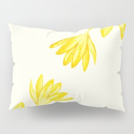 yellow botanical crocus watercolor Pillow Sham