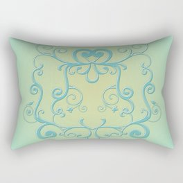 Mint tendrils emblem Rectangular Pillow