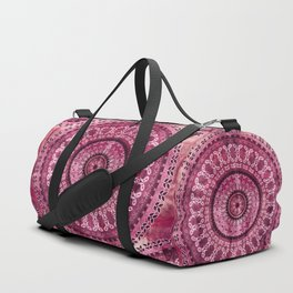 Vintage Burgundy Mandala Duffle Bag
