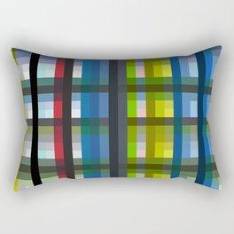 colorful striking retro grid pattern Nis Rectangular Pillow