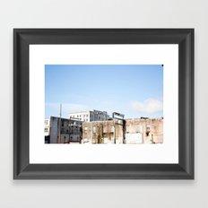 Aberdeen Skyline Framed Art Print