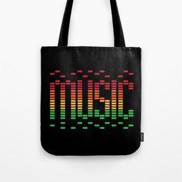 Music Equalizer Tote Bag