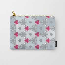 Kaleidoscope Flowers Winterday Carry-All Pouch