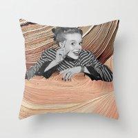 desert Throw Pillows featuring Desert by Mrs Araneae