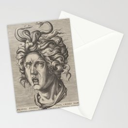 Medusa,16th Century Illustration Stationery Cards