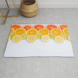 Orange lemon grapefruit Rug