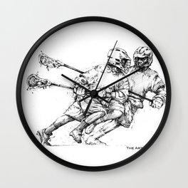 Run & Gun (The Art of Lax™) Wall Clock