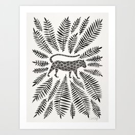 Black Jaguar Art Print