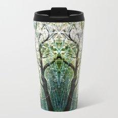 Bamboo Forest Geometry Metal Travel Mug