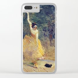 Henri De Toulouse - Lautrec - The Spanish Dancer Clear iPhone Case