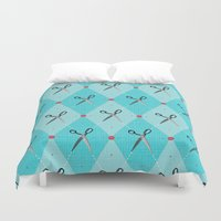 sewing Duvet Covers featuring Sewing Argyle by Julie's Fabrics & Thingummies