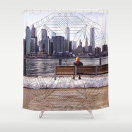 New York Mandala Shower Curtain