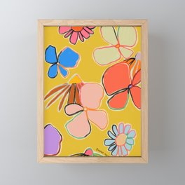 VINTAGE GARDEN YELLOW Framed Mini Art Print