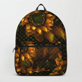AUTUMN SUNFLOWERS GOLDEN ORANGE YELLOW Backpack