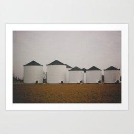 Grain Bins Art Print