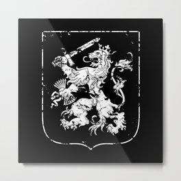 Dutch-Heraldry-Holland -Nederlands-Lion eroded Metal Print
