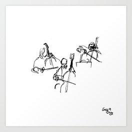Cellos at the Symphony Art Print