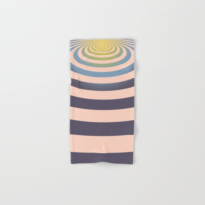 Circle around asymmetrically - Optical game Hand & Bath Towel