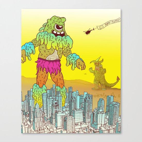 Giant Monster Diplomacy Canvas Print