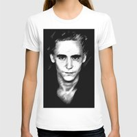 tom hiddleston T-shirts featuring Loki (Tom Hiddleston) by Olive in Pinkland