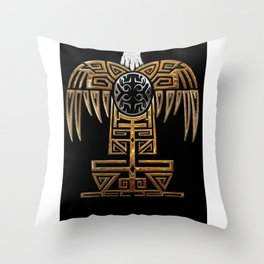 The great mother eagle Throw Pillow