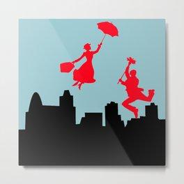 Blue Mary Poppins Metal Print