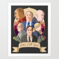 better call saul Art Prints featuring Better Call Saul by NessaSan