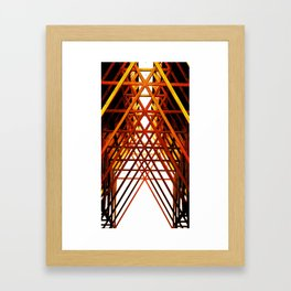 Criss Cross Framed Art Print