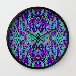 Symetrical florescent floral pattern design Wall Clock