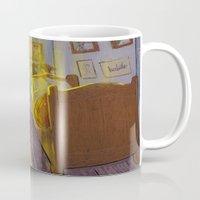 van gogh Mugs featuring Vincent van Gogh by bytahsinkaya
