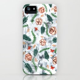 Grunge Roses Pattern iPhone Case