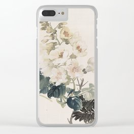Vintage Chinese Ink and Brush Painting and Calligraphy Clear iPhone Case