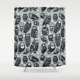 Flock of Owls Shower Curtain