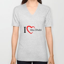 Abu dhabi. I love my favorite city. Unisex V-Neck